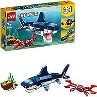 LEGO 31088 Creator 3 en 1 Criaturas del Fondo Marino, Tiburón o Calamar o Pez Pescador, Juguete de Construcción para…
