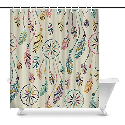 Image Unavailable Not Available For Color INTERESTPRINT American Indian Dream Catcher Shower Curtain