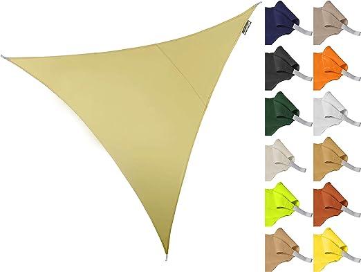 Terrazzo o Balcone Verde Kookaburra Tenda a Vela Triangolo rettangolo 6,0m x 4,2m Traspirante Intrecciata Protezione Anti Raggi 90/% UV per Ombreggiare Il Giardino