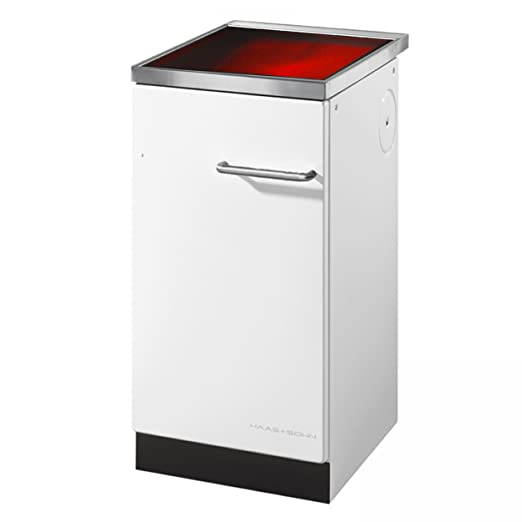 Haas + sohn cocina kit de 40,5 blanco, con vitrocerámica ...