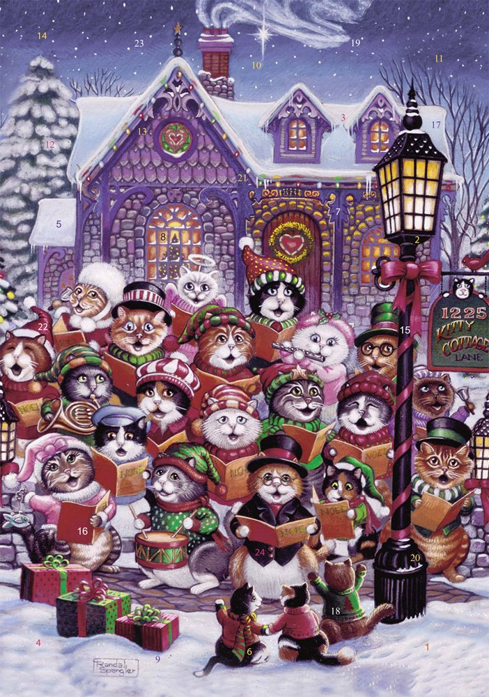 Purrfect Harmony Advent Calendar (Countdown to Christmas) Vermont Christmas Company
