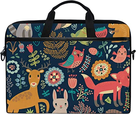 Briefcases Owl Mens and Womens Computer Bags Handbags Suitable for 15 Inch Computers Shoulder Bags