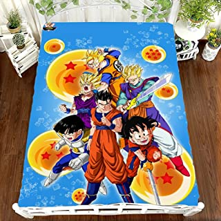 3D Cute Dragon Ball Print 1-Pieces Microfiber Bed Sheets Set- Wrinkle & Fade Resistant, Deep Pocket, Hypoallergenic Child Bedding Set