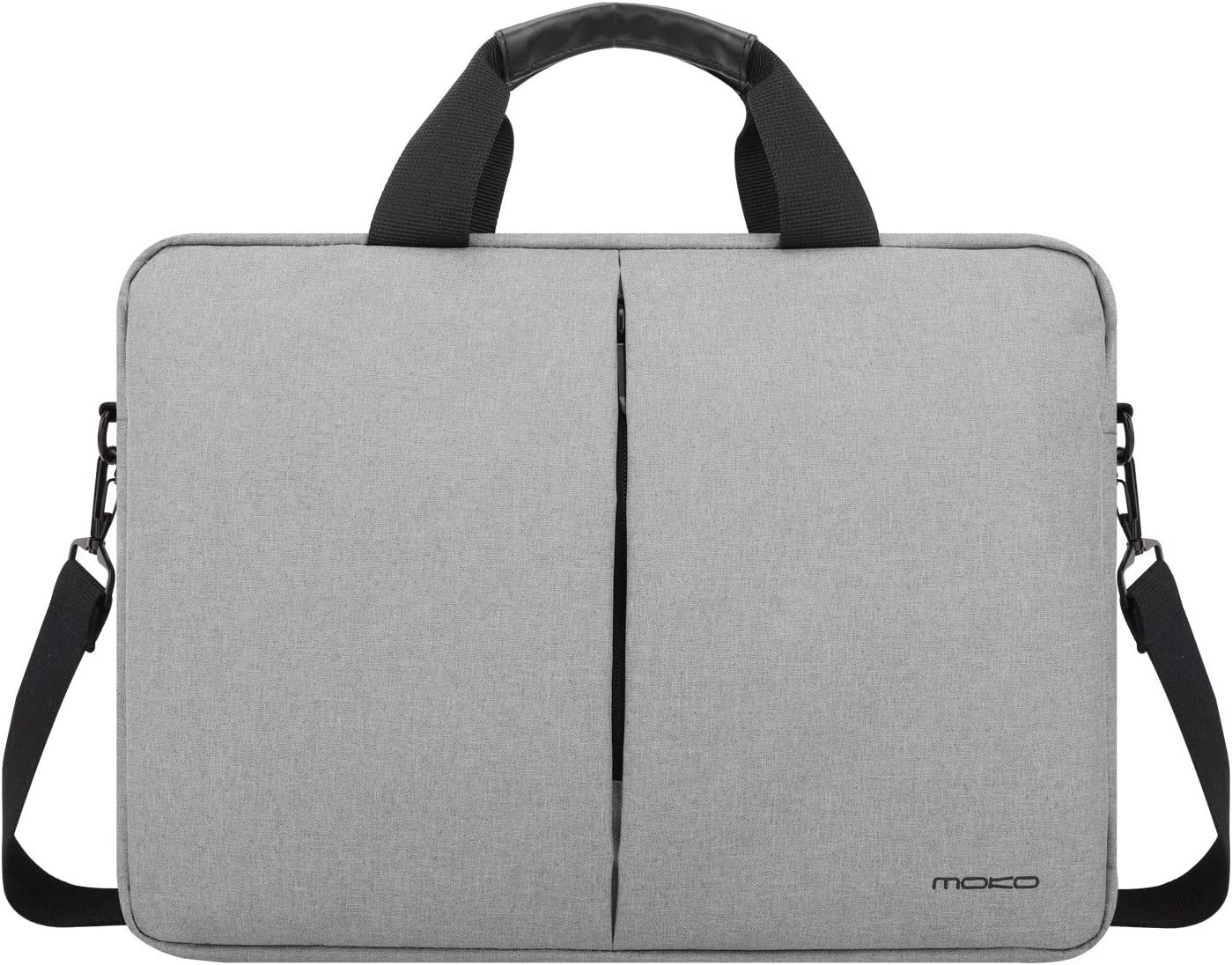 DOMISO 14 Inch Multi-Functional Laptop Sleeve Business Briefcase Messenger Bag with USB Charging Port for 14 Laptop//Chromebook//Ultrabook//Apple//Lenovo//HP//Dell//ASUS//Acer Black Zipper