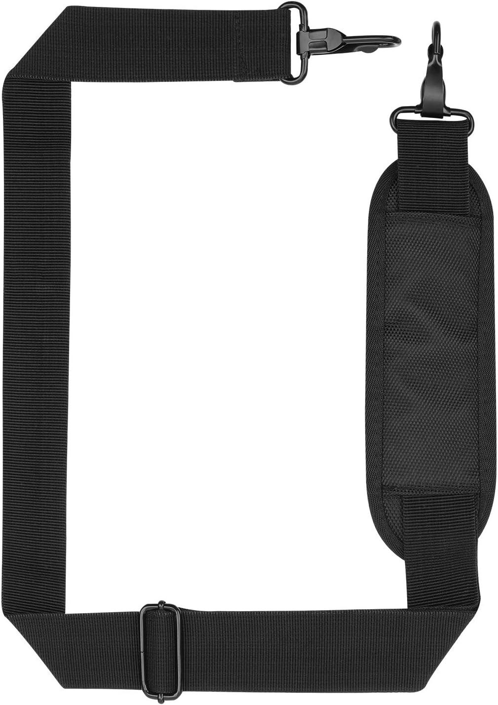 Zokaliy Laptop Shoulder Strap Replacement, Universal Replacement Luggage Duffel Bag Strap Adjustable Belt with Pad&Metal Hooks for Briefcase Computer Crossbody Messenger Diaper Bag Laptop Case, Black