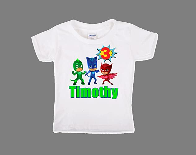PJ Masks Birthday Shirt, PJ Masks Birthday Shirt For Boys, Personalized Boys PJ Masks