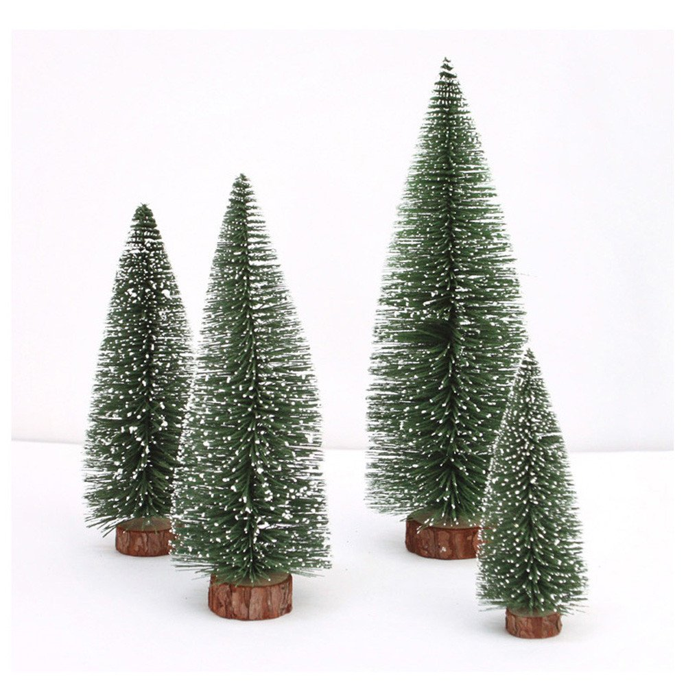 callm Christmas Tree,Christmas Table Decoration Mini Christmas Tree Stick White Cedar Desktop Small Christmas Tree (Green, 20CM)