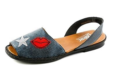 95b3727751d49f Rieker Damen Komfort Riemchen Sandalen Jeans Blau Gr. 37  Amazon.de ...