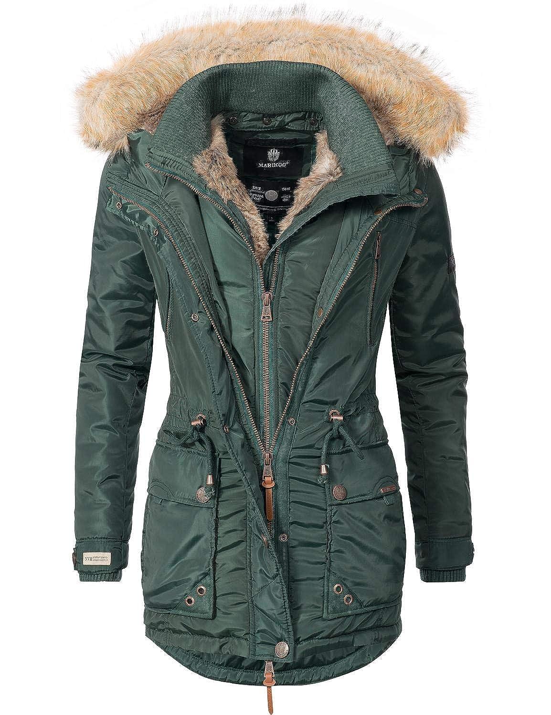TALLA XS. Marikoo Grinsekatze Abrigo de Invierno Parka para Mujer 8 Colores XS-XXL