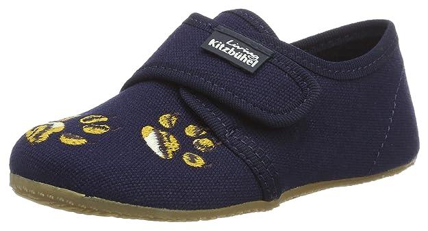 Living Kitzbühel Klettmodell Tiger, Zapatillas de Estar por Casa para Niños, Azul (Marine 570), 32 EU