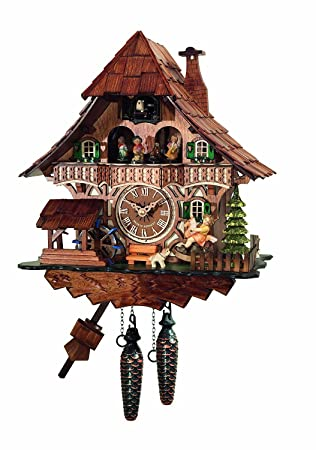 Amazoncom Traditional Cuckoo Clock Black Forest House with dancers