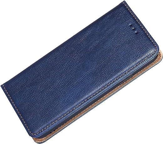 FINEONE Funda para Xiaomi Poco M3, Billetera de Cuero PU Retro Elegante Cubierta Cierre Magnético Folio Case Cover, Cubierta Estilo Libro Estuche, Azul