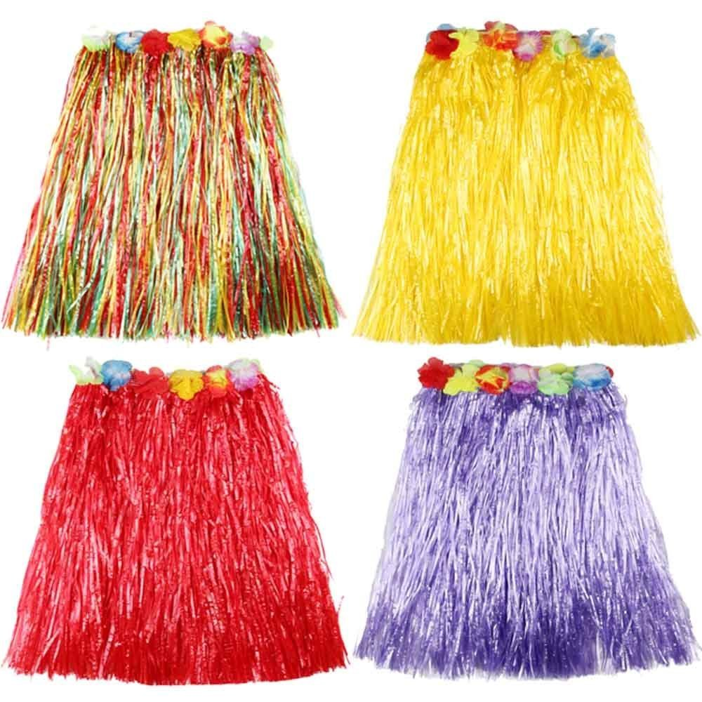 O\'Keer Grass Skirt Hawaiian Costume - OKEER Magic Buckle Plastic Skirt Used In The Party Table Decorating Homemade Clothes(Mixed)
