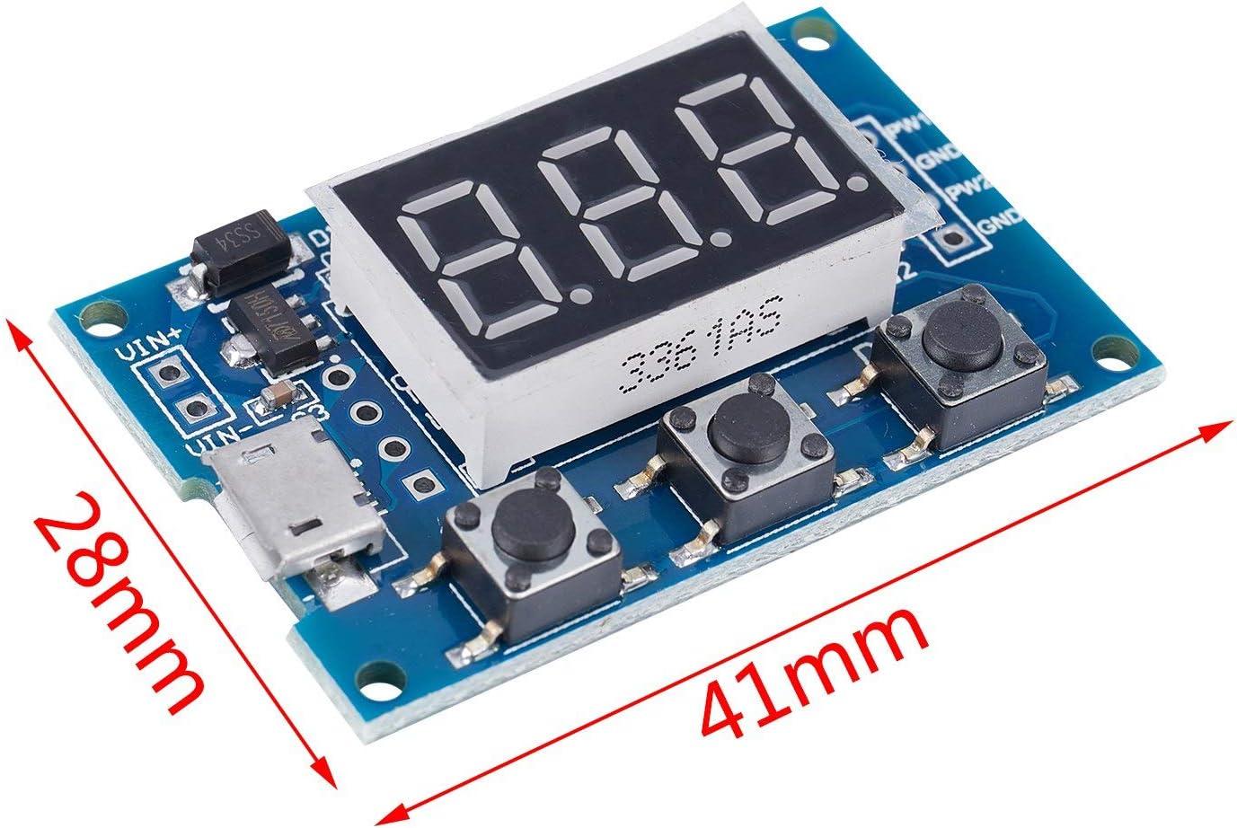 Cikuso 2 PWM frequence dimpulsion reglable cycle carre generateur donde rectangulaire generateur de signal donde pilote de moteur pas a pas