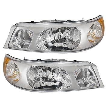 HEADLIGHTSDEPOT Compatible with Lincoln Towncar Halogen-Type Headlights  Headlamps Pair New Set