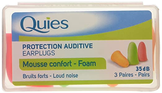 9 opinioni per Quies Rubber Foam Ear Plugs 6 Pairs by Quies