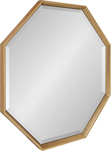 Kate and Laurel Calter Modern Large Octagon Frame Wall Mirror
