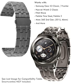 huawei watch 2 classic. truffol 22mm metal band for samsung gear s3 frontier \u0026 classic, fitbit blaze, huawei watch 2 classic 9