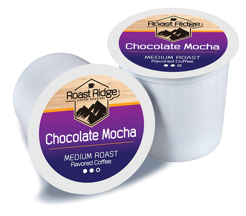 Roast Ridge Single Serve Pods for Keurig K Cup Coffee, Chocolate Mocha, 100Count
