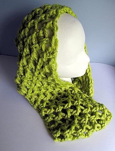 Amazon Crochet Avocado Green Infinity Scarf Ultra Soft Chunky