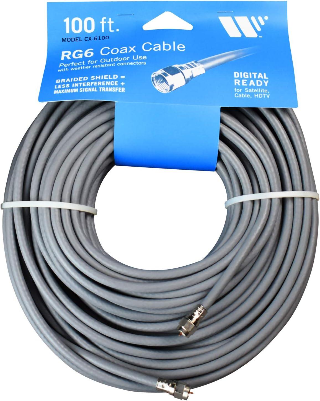 Winegard CX-0625 25feet RG6 Coax with Weatherproof Connectors