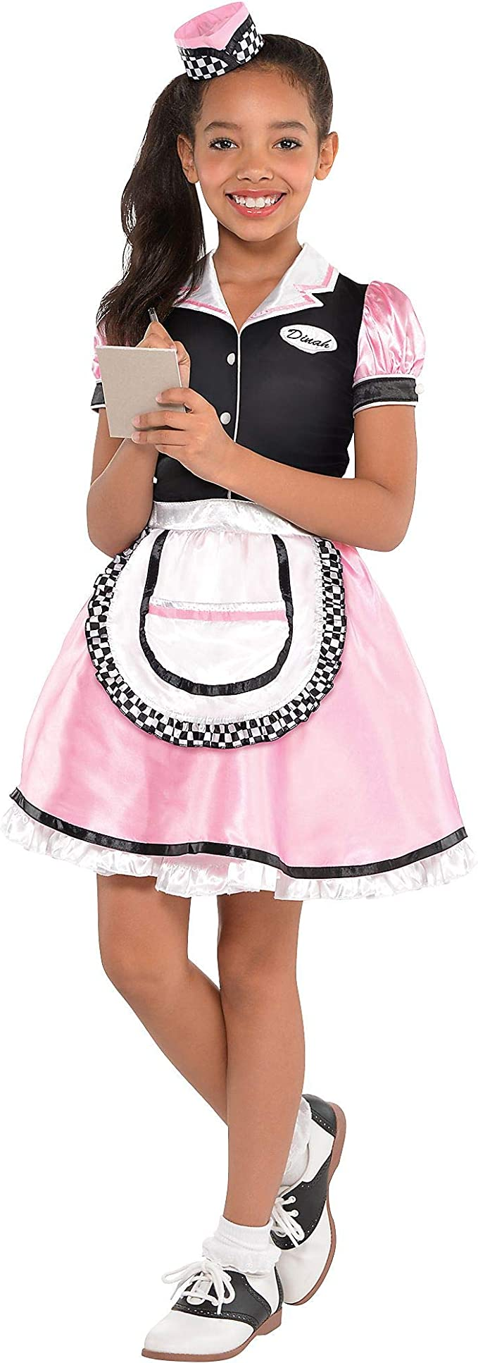 1950s Costumes- Poodle Skirts, Grease, Monroe, Pin Up, I Love Lucy Amscan Dinah Girl Child 50S Costume $28.93 AT vintagedancer.com