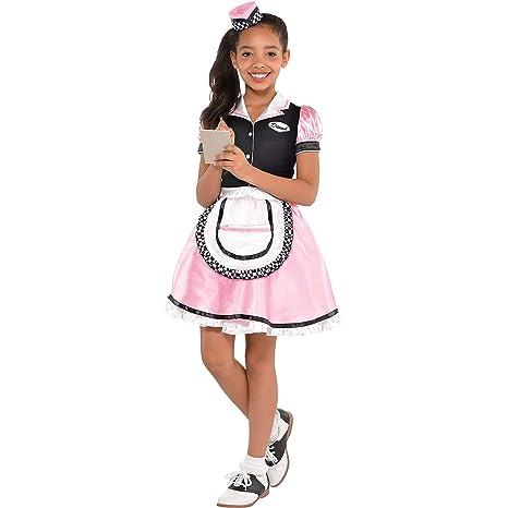 e4cd0d3f98ced Amazon.com: Amscan Girls Dinah Girl Waitress Costume - Medium (8-10): Toys  & Games