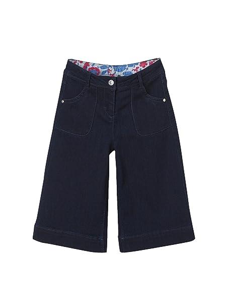 VERTBAUDET Falda-pantalón Vaquera niña Azul Oscuro Liso 7A: Amazon ...