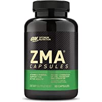 Optimum Nutrition ZMA Zinc for Immune Support, Muscle Recovery and Endurance Supplement for Men and Women, Zinc and…