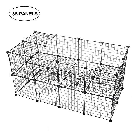 SOULONG Parque para Mascotas con 35 Paneles y 1 Puerta ...