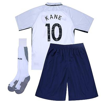 2017-2018 Season Tottenham #10 Kane Home Kids Or Youth Soccer Jersey & Shorts & Socks Set White