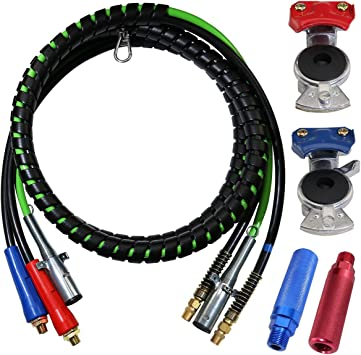 3 IN ONE WRAP SET 7 WAY TRACTOR TRAILER ABS ELECTRIC CORD CABLE /& AIR LINES 12/'