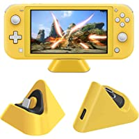 Base de carga para Nintendo Switch Lite y Nintendo Switch. Estación de carga compacta con puerto tipo C compatible con Nintendo Switch Lite. Color Amarillo