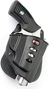 Fobus RU101BH Evolution Holster for Charter Arms Boomer, Bulldog, Pitbull (Except .45 ACP) / Ruger LCR All Models Fixed Sights only, LCRx,Ruger SP101 Any Caliber (Fixed Sights only), Right Hand Belt