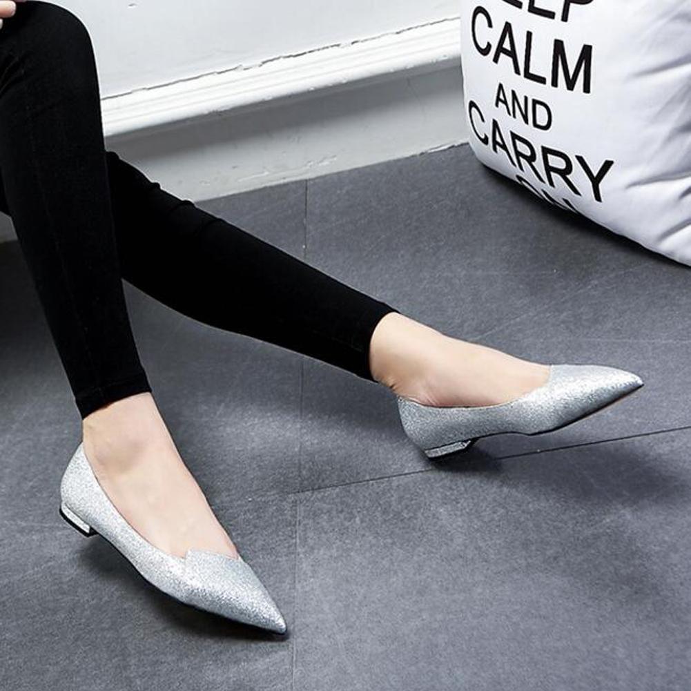 L@YC Women Summer Sandals Shallow Mouth Single Dress Flat Shoes Wild Casual Fight Color Ladies Sequins Dress Single Dance B073W2L9JW Platforms & Wedges b36987