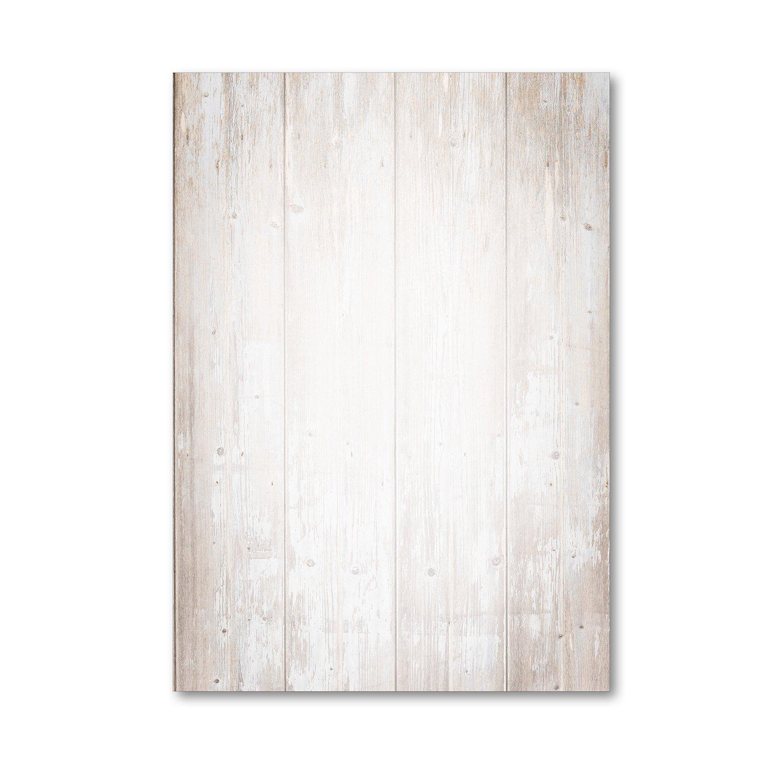 1 set di carta da lettere effetto legno su entrambi i lati, in formato DIN A4, 50 fogli ideali per un invito ad una festa di compleanno, un invito o un menù un invito o un menù easydruck24de