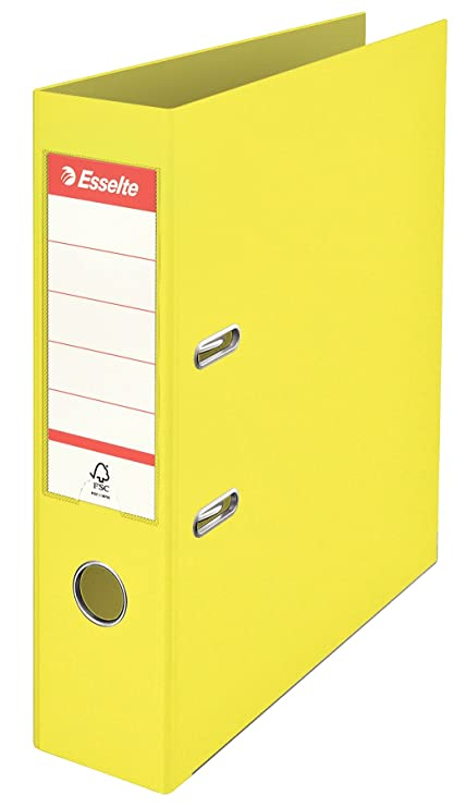 Esselte Archivador Palanca, Amarillo,A4, Lomo 75mm, Plástico, ColourIce
