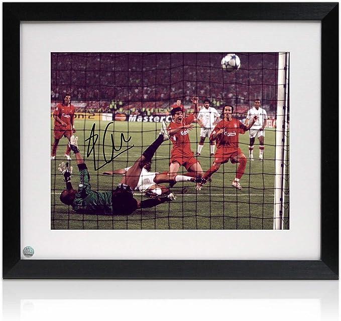 Milagro enmarcada de Estambul Liverpool foto firmada por Xabi Alonso: Amazon.es: Deportes y aire libre
