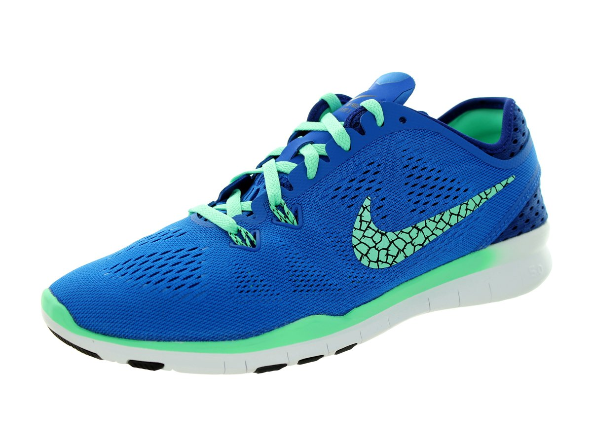 Nike Women's Free 5.0 Tr Fit 5 Brthe Soar/Green Glow/Dp Ryl Bl/Blk Training Shoe 9.5 Women US