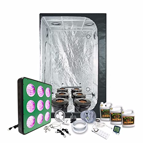 Amazon com: 4x4 LED Grow Tent Kit Complete with AgroMax 4x4