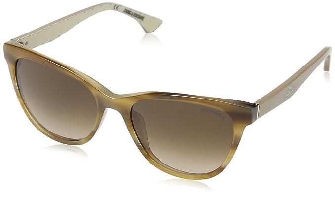 Zadig & Voltaire Damen Sonnenbrille Szv005, Braun (Brown Streaked Havana+Honey), Einheitsgröße