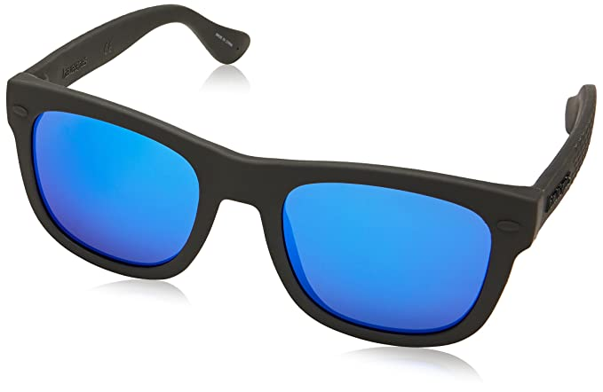 Mens Paraty/L Z0 Qfu Sunglasses, Black/Blue Blue, 52 Havaianas