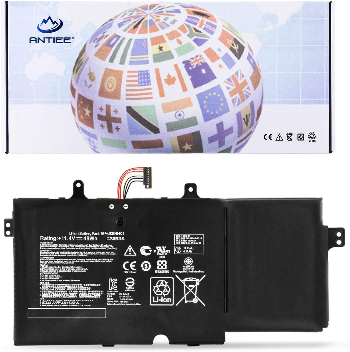 ANTIEE B31N1402 Laptop Battery for ASUS Q551 Q551L Q551LN Q552UB N591LB N592UB Q551LN-BSI708 Q551LN-BBI706 Q552UB-BHI7T12 Series Notebook B31BN9H 0B200-01050000 0B200-01050000M 11.4V 48Wh