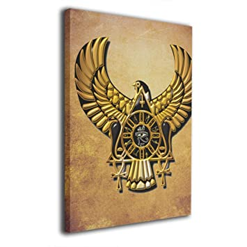 Amazon com: HotHZ Egyptian Ibis Ankh Horus Eye Wall Art
