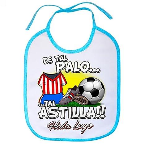 Babero de tal palo tal astilla Lugo fútbol - Celeste: Amazon ...