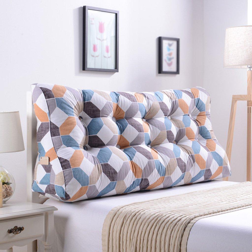 qiangzi respaldo almohada doble noche triángulo cojines almohada cabeza almohada cintura almohada sofá tapizado respaldo cama grande proteger la cintura ...