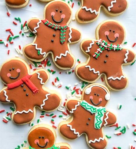 KENIAO Navidad Cortadores de Galletas Invierno Moldes para Galletas - 5 Piezas - Copo de Nieve, árbol de Navidad, Hombre de Pn de Jengibre, Papá Noel y Reno ...
