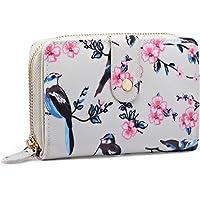Miss Lulu 女式花朵鸟马手提包油布短款双折钱包手包包