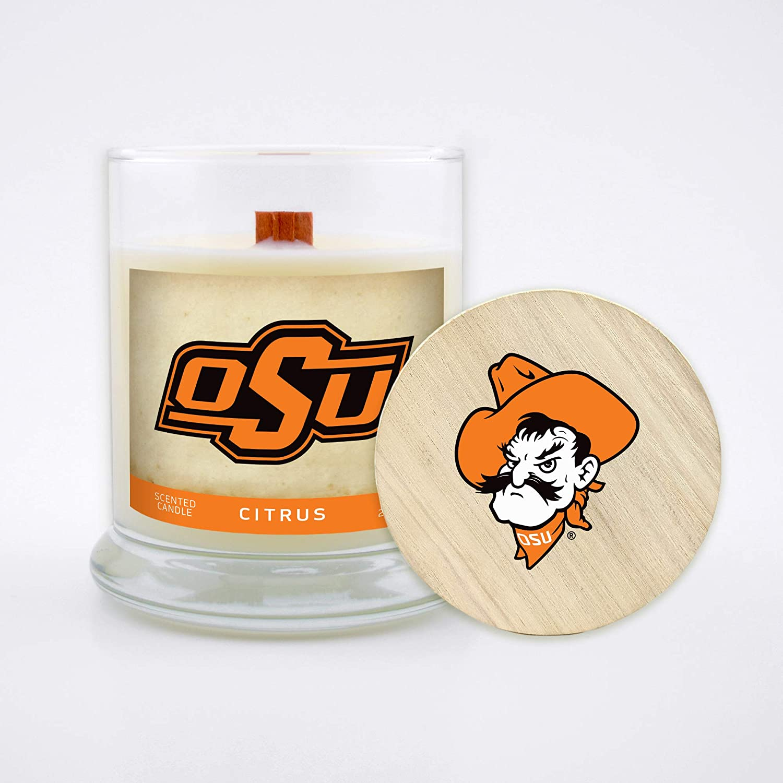Worthy Promo NCAA Unisex-Adult NCAA 8 Oz Soy Wax Wood Wick Candle with Lid