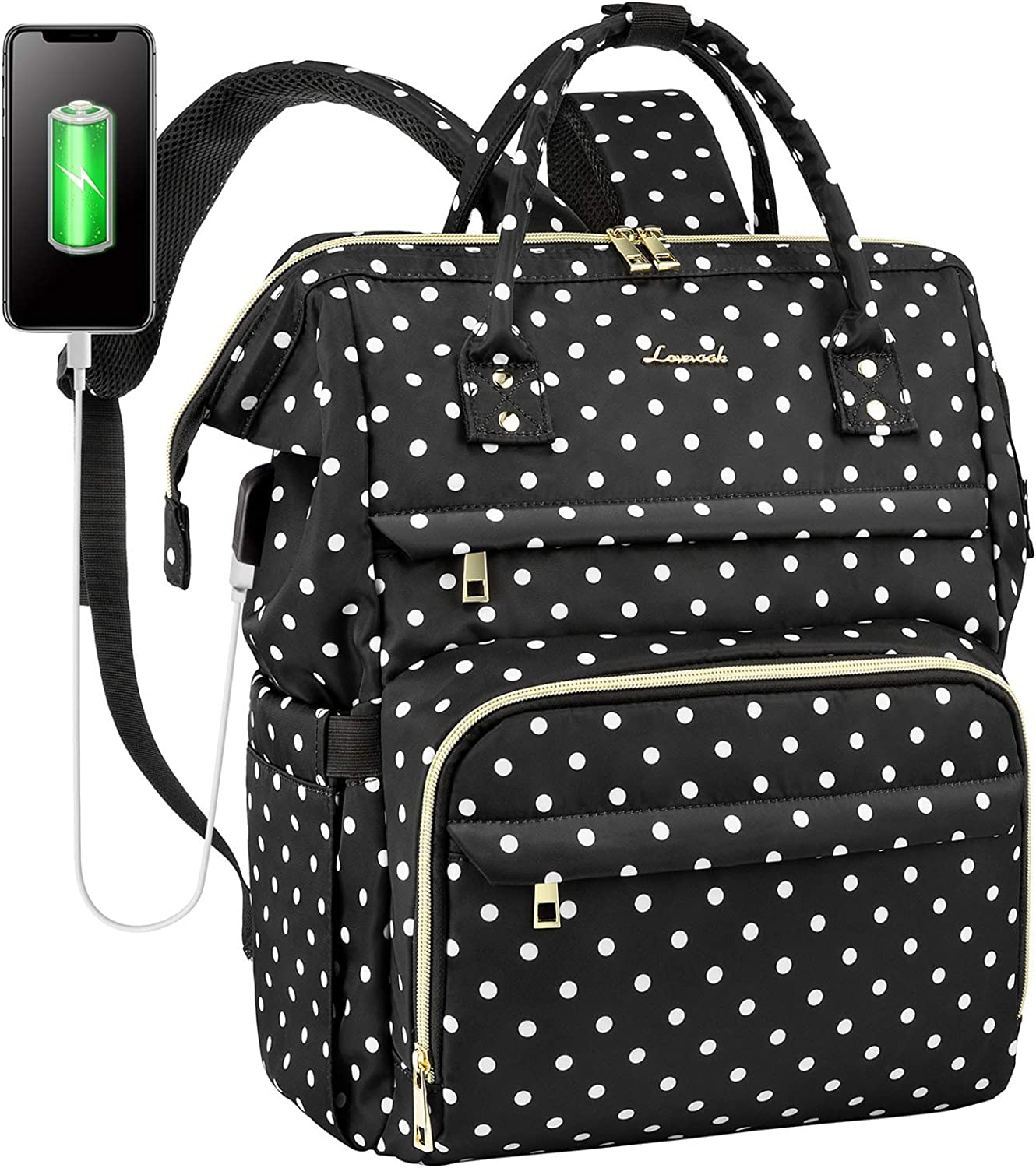 Laptop Backpack for Women Work Laptop Bag Stylish Teacher Backpack Business Computer Bags College Laptop Bookbag